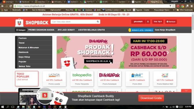 Sering Belanja Online? Gunakan ShopBack untuk mendapatkan Promo dan Cashback